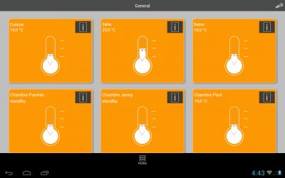 radiateur connecté et application mobile - aterno