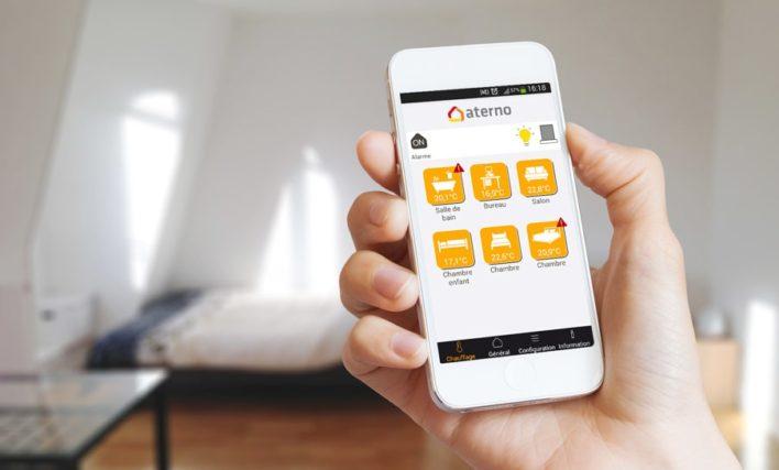 application mobile myaterno pour radiateur electrique aterno