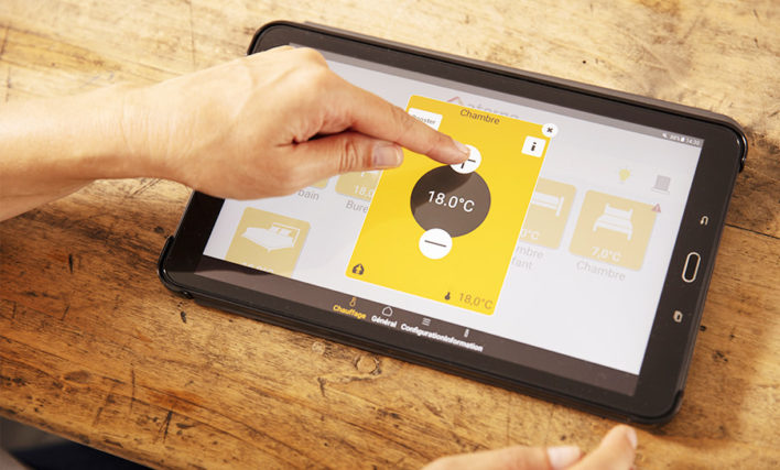 application myaterno sur tablette tactile