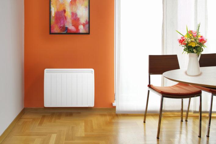 salle a manger avec radiateur a inertie